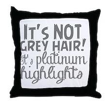 grey hair fun Throw Pillow