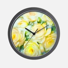 Shabby Chic Yellow Wall Clock