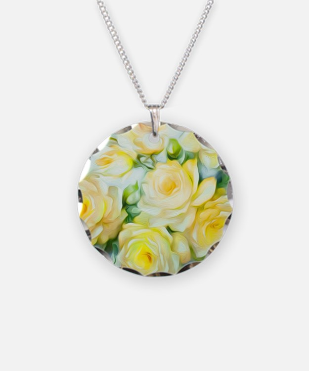 Shabby Chic Yellow Necklace