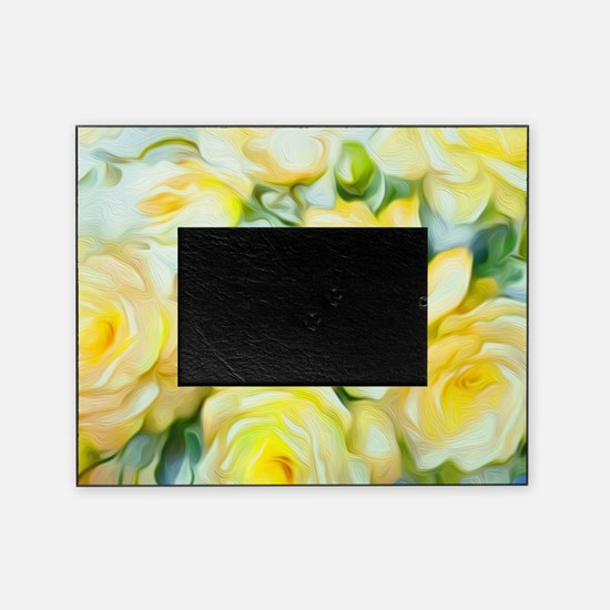 Shabby Chic Yellow Picture Frame