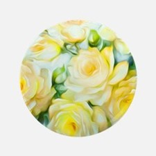 "Shabby Chic Yellow 3.5"" Button"