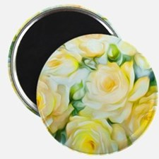 Shabby Chic Yellow Magnet