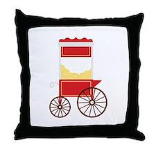Popcorn Cart Throw Pillow