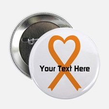 "Personalized Orange Ribbon 2.25"" Button (10 pack)"