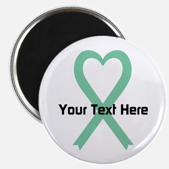 """Personalized Light Green Ri 2.25"""" Magnet (10 pack)"""