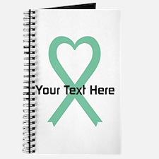Personalized Light Green Ribbon Heart Journal