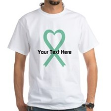 Personalized Light Green Ribbon Hear Shirt