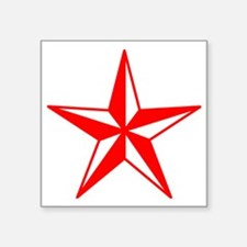 "Red Star Square Sticker 3"" x 3"""