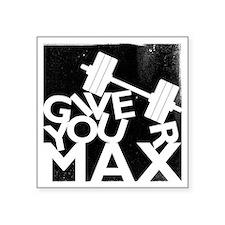 """GYM Square Sticker 3"""" x 3"""""""
