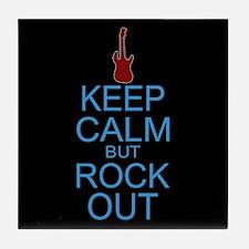Keep Calm Rock Out Tile Coaster