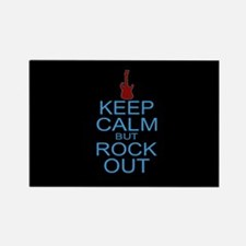 Keep Calm Rock Out Rectangle Magnet
