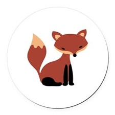 Fox Animal Round Car Magnet
