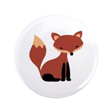 "Fox Animal 3.5"" Button"