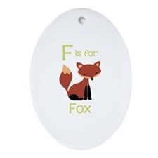 F Is For Fox Ornament (Oval)