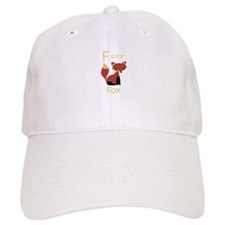 F Is For Fox Baseball Baseball Cap