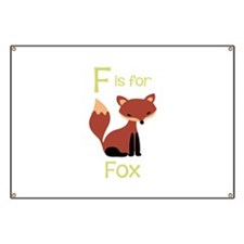F Is For Fox Banner