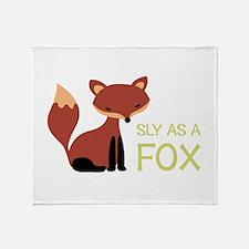 Sly As A Fox Throw Blanket