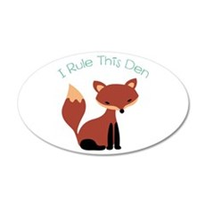 I Rule This Den Wall Decal