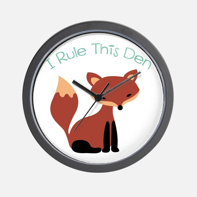 I Rule This Den Wall Clock