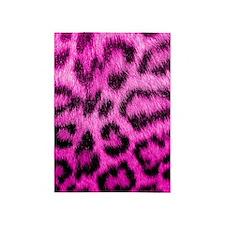 Pink Leopard Print 5'x7'Area Rug