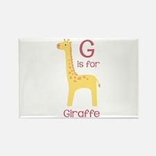G Is For Giraffe Magnets