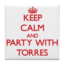Keep calm and Party with Torres Tile Coaster