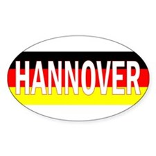 Hannover, Germany Oval Decal