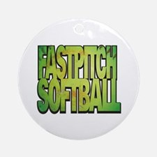Fastpitch Softball Ornament (Round) Ornament (Roun