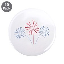 """July Fourth Fireworks 3.5"""" Button (10 pack)"""