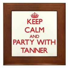 Keep calm and Party with Tanner Framed Tile
