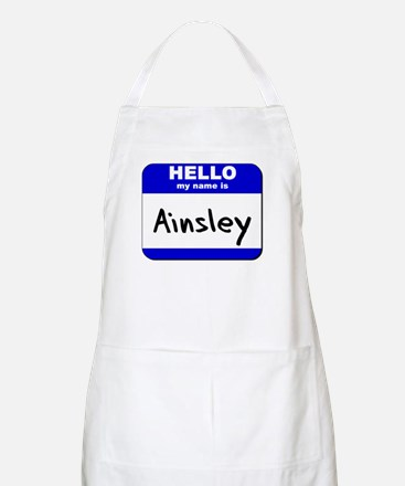 hello my name is ainsley  BBQ Apron