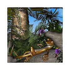 Cute gecko Queen Duvet