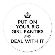Big Girl Round Car Magnet