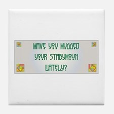 Hugged Staby Tile Coaster