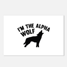 I'm The Alpha Wolf Postcards (Package of 8)