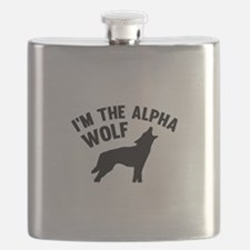 I'm The Alpha Wolf Flask