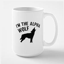 I'm The Alpha Wolf Large Mug