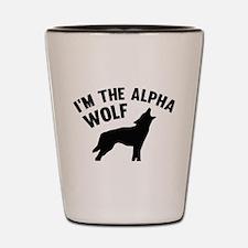 I'm The Alpha Wolf Shot Glass