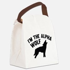 I'm The Alpha Wolf Canvas Lunch Bag