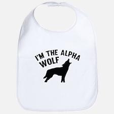 I'm The Alpha Wolf Bib