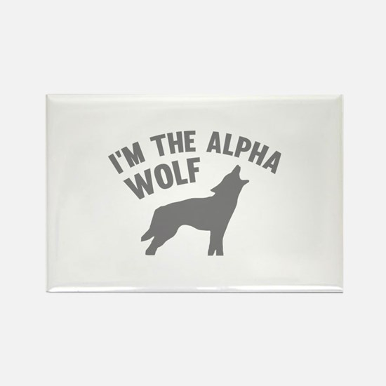 I'm The Alpha Wolf Rectangle Magnet
