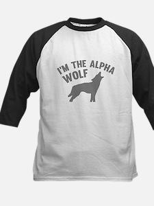 I'm The Alpha Wolf Kids Baseball Jersey