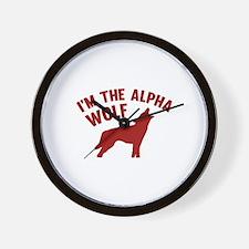 I'm The Alpha Wolf Wall Clock