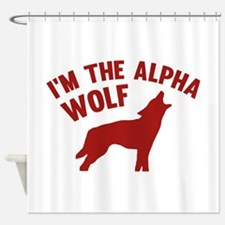 I'm The Alpha Wolf Shower Curtain