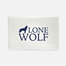 Lone Wolf Rectangle Magnet