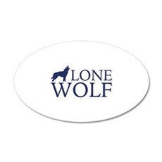 Lone Wolf 22x14 Oval Wall Peel