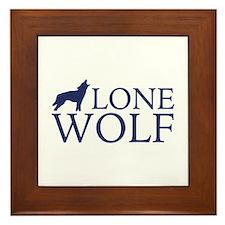 Lone Wolf Framed Tile