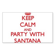 Keep calm and Party with Santana Decal