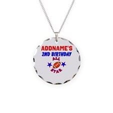2 YR OLD FOOTBALL Necklace