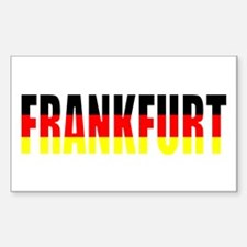 Frankfurt, Germany Rectangle Decal